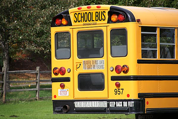 Tell your fricken' kids to behave on the school bus!