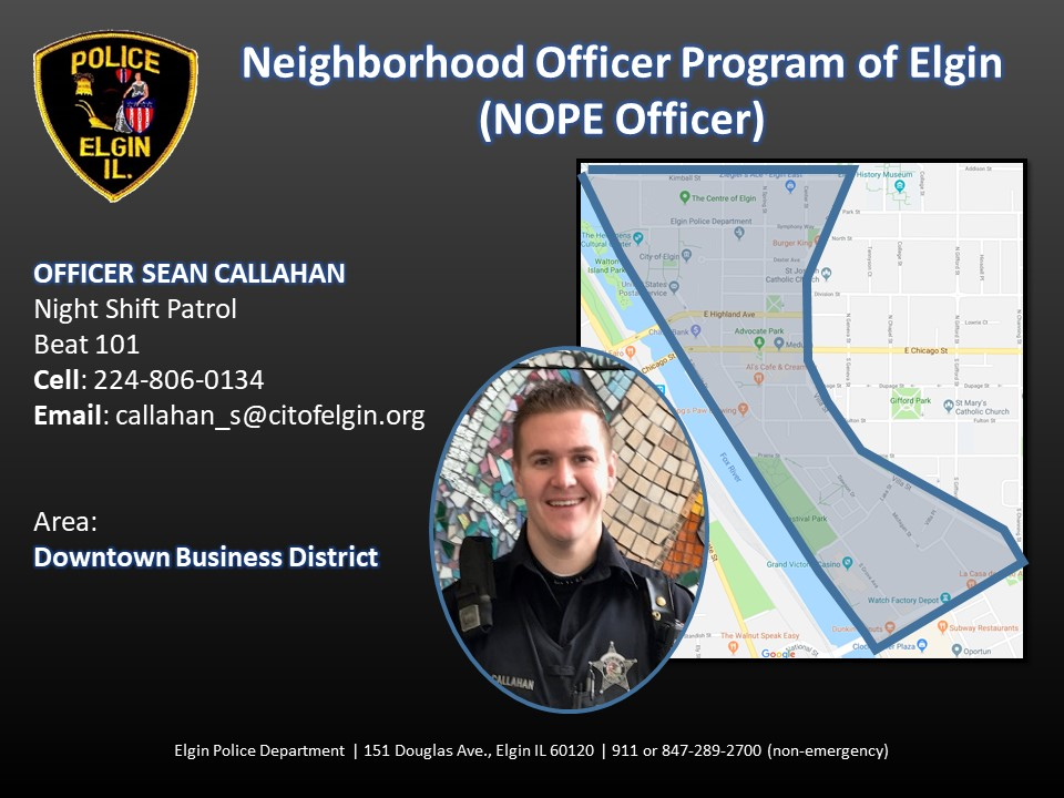 "The First Ward Report – A ""N.O.P.E."" officer in Elgin?"
