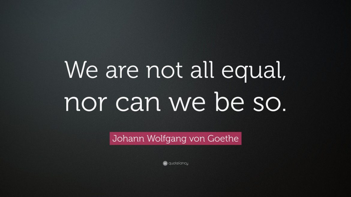 We are not all created equal